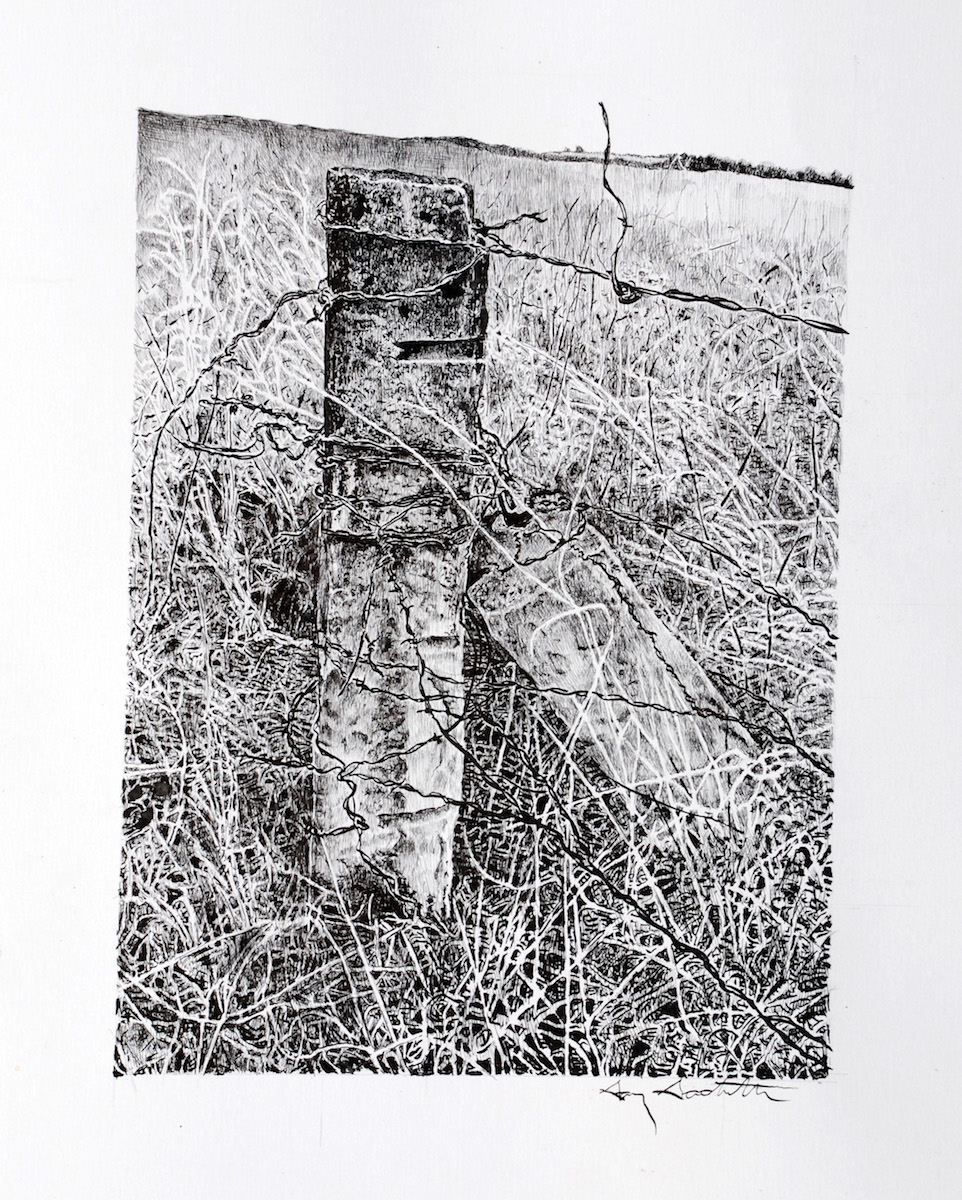 Stone Fence Post